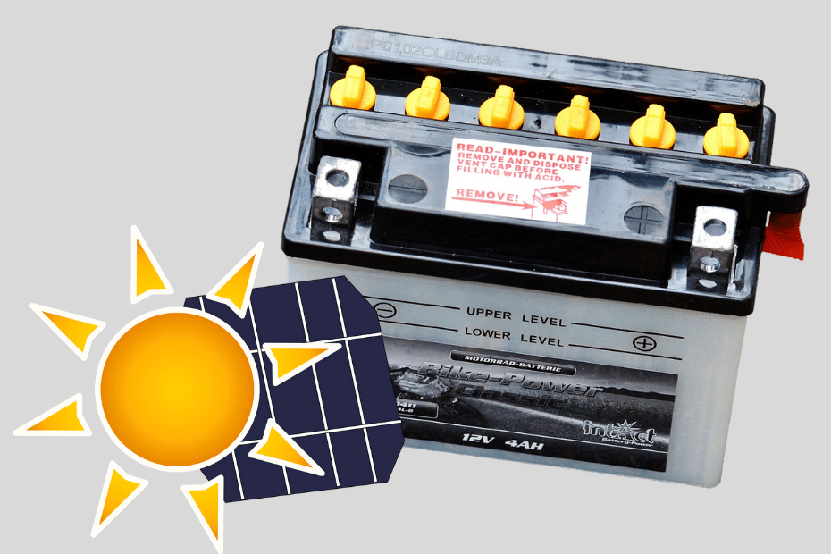 Can a solar panel overcharge a 12 volt battery - top