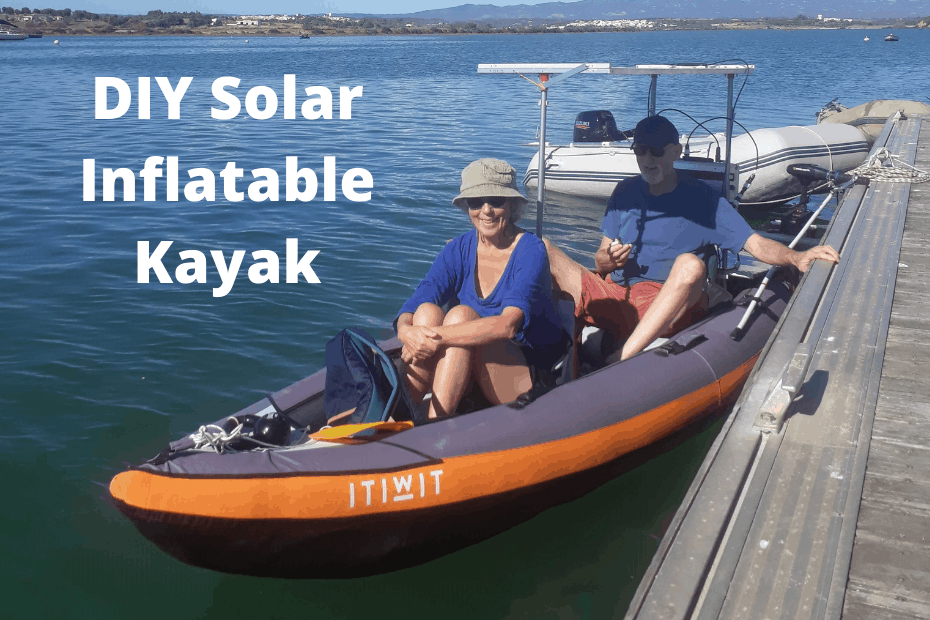 IY Motorized Inflatable Kayak with solar panels variable speed