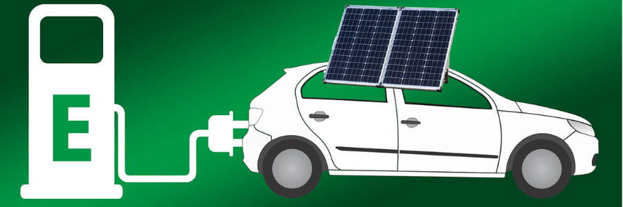 Electric car charging roof solar panels mounting