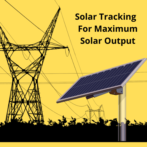 Increase solar panel output by automatic solar tracker