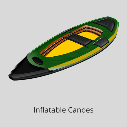 Inflatable canoes and kayaks for solar projects