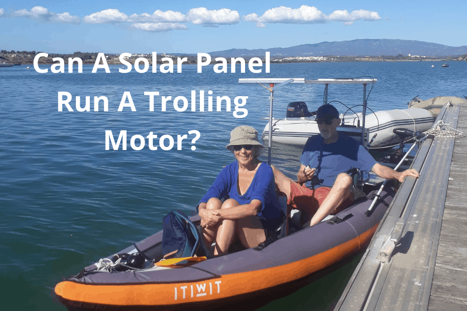How many panels to run a solar powered trolling motor?