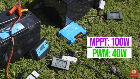 MPPT solar controllers vs PWM power output compare