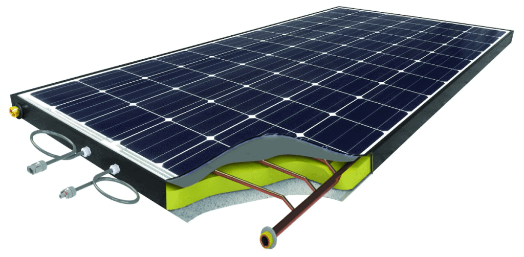 Hybrid electric PV and water solar panel