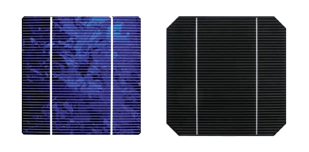Why are solar cells cut in squares?