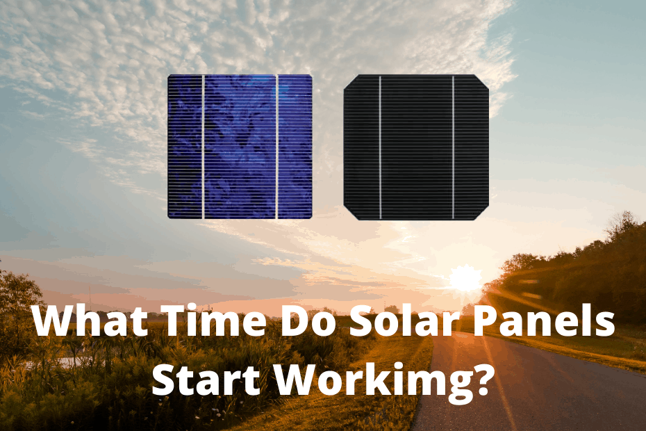 What time do solar panels start and stop working