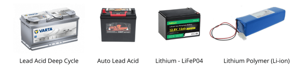 Lithium-type and lead-acid batteries are used for solar