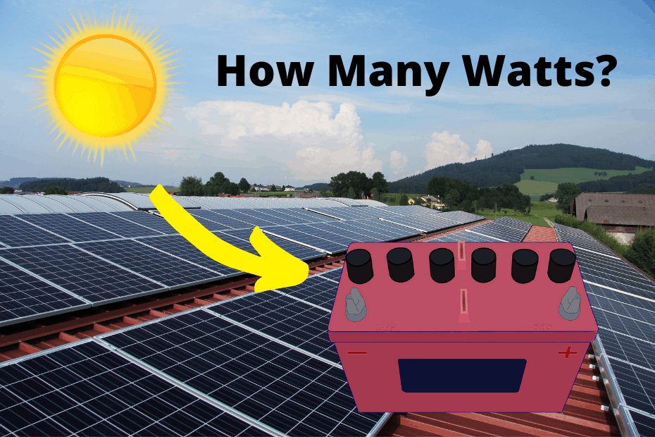 What size solar panel to charge a 120Ah battery_featured image