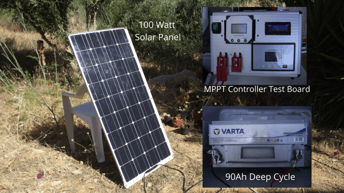 Battery Charging - Solar Panel Direct Connection Voltage and Current.