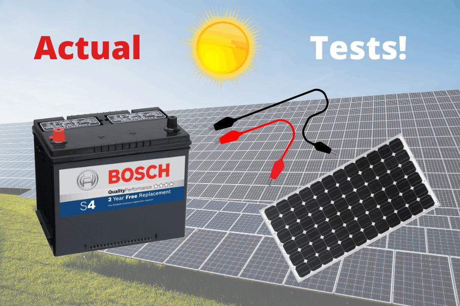 Battery solar panel direct connection