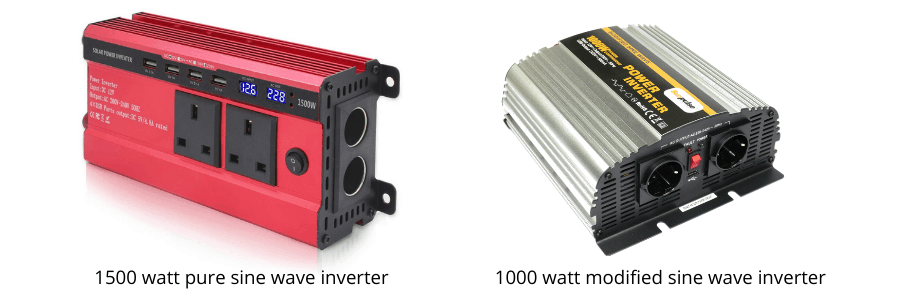 Solar inverter types - modified and pure sine wave