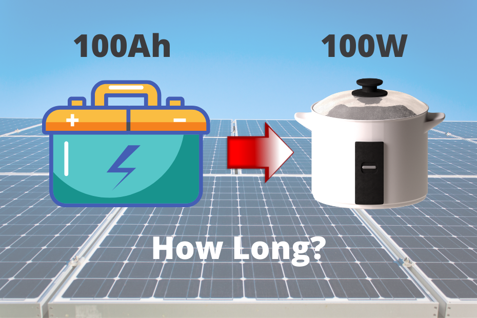 How Long 100ah Battery Run Appliance Requires 100w_featured image