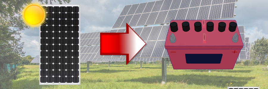 What size 12V solar panel do you need - batteries
